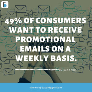 consumer promotional emails frequency stats image