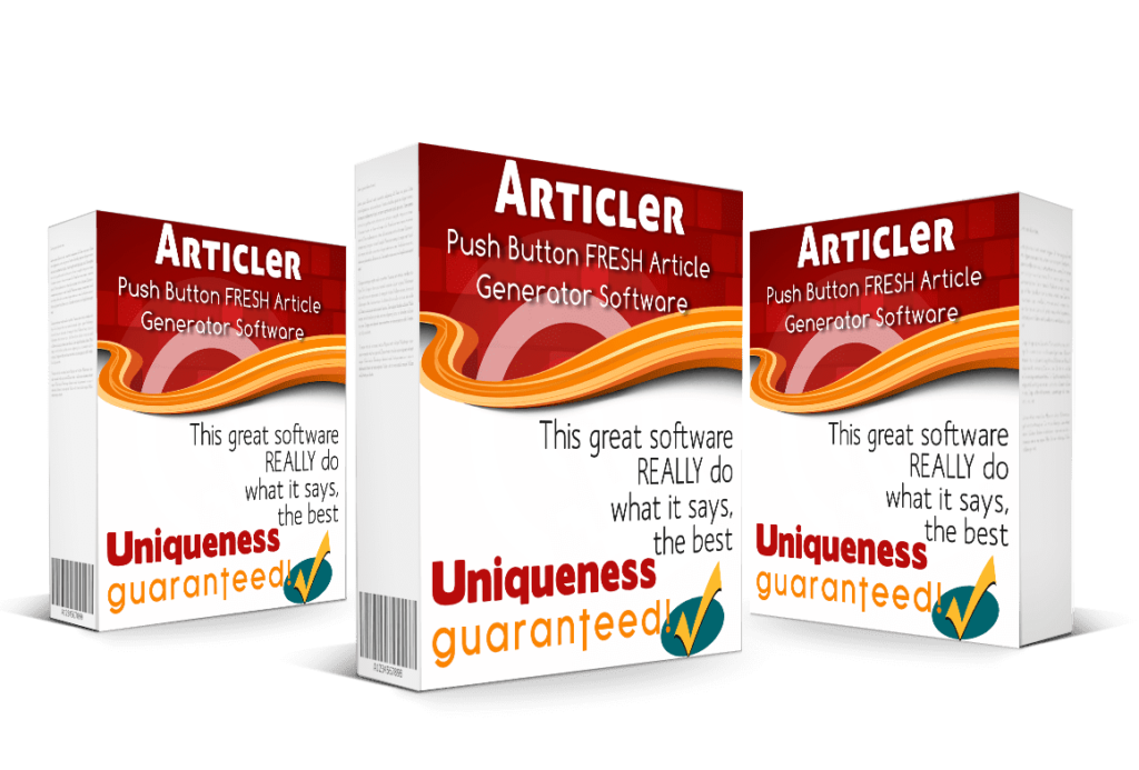 Write Unique Articles Fast With Articler. Software Cover