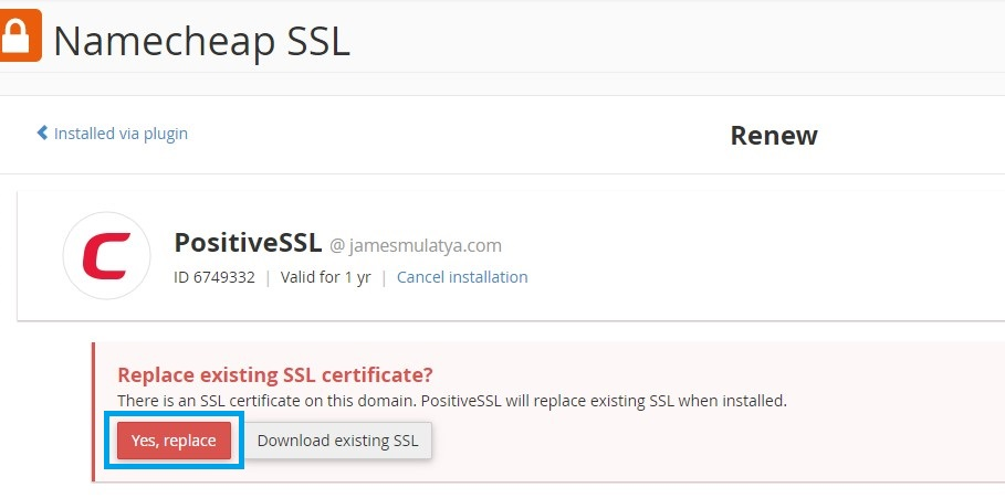 Possitive-SSL-Installation-Replacement-Page