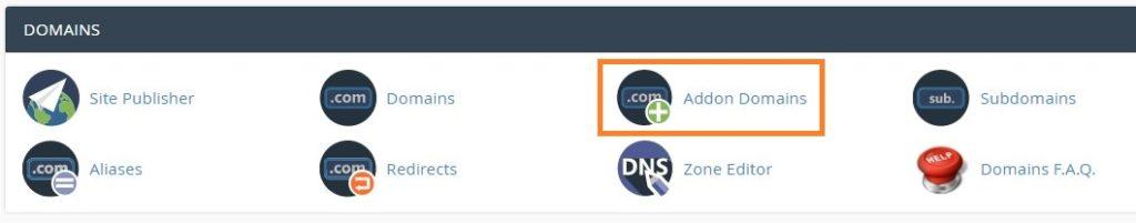 Addon Domains plugin in cPanel