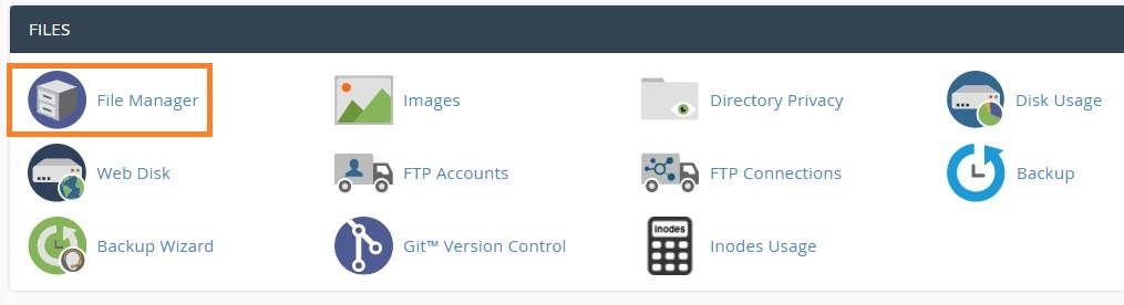 Move You WordPress Site To A New domain File Manager