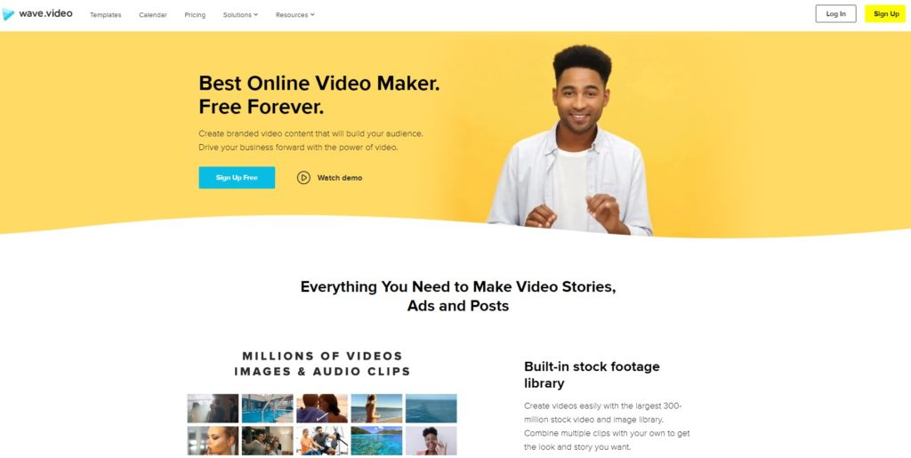 wave video homepage