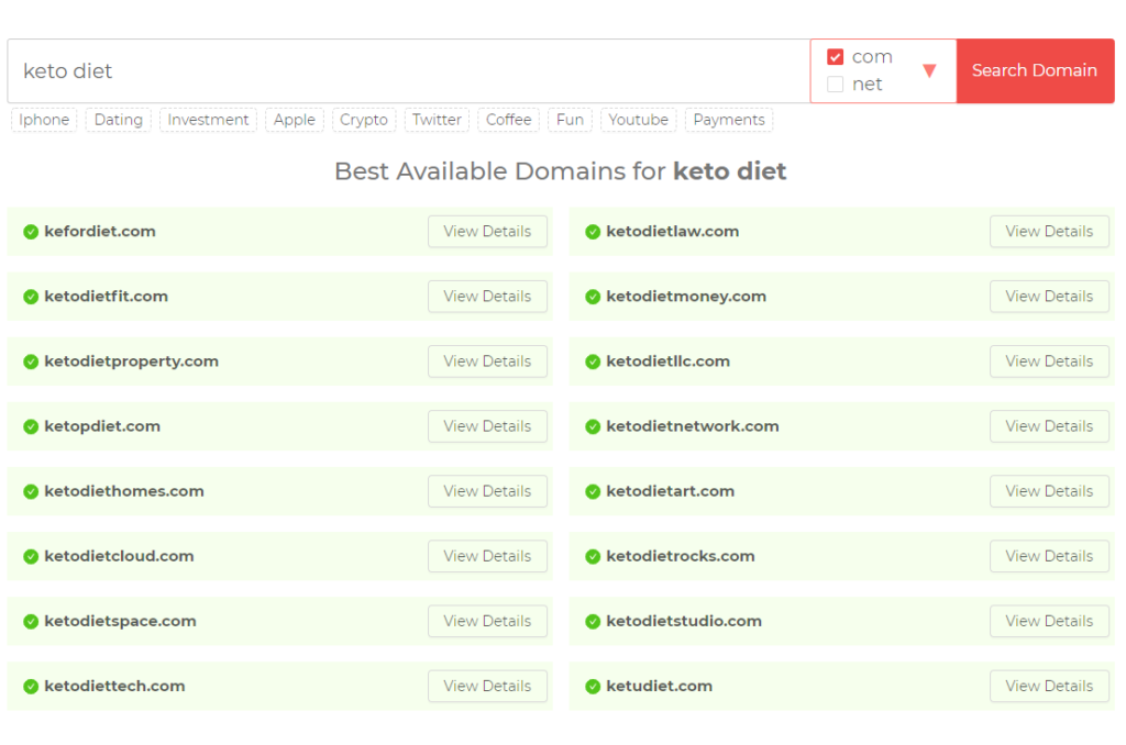 DomainWheel Search Results