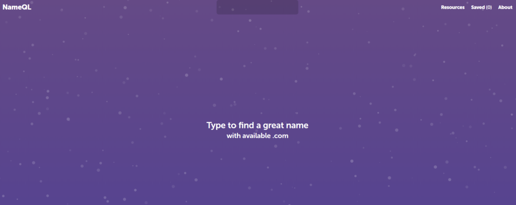 Blog Name Generator NameQL Homepage