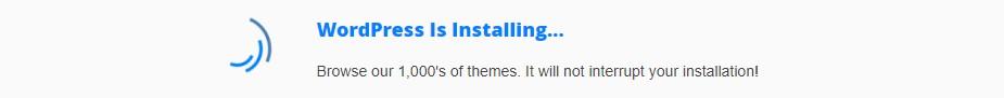 One Click Installs WordPress Installation