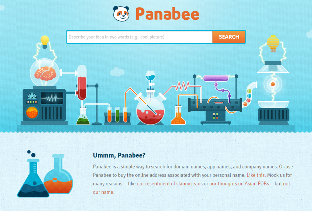 Blog Name Generator Panabee Homepage