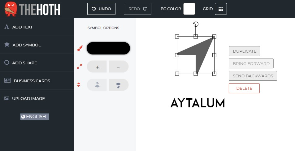 The Hoth Logo Maker - Add Shapes Editing Options
