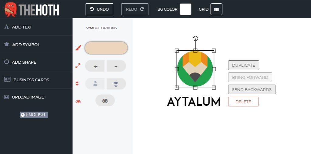 The Hoth Logo Maker - Add Symbol Editing Options