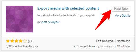 Export Media With Selected Content