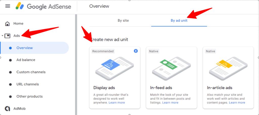 Google AdSense Create Responsive Ad